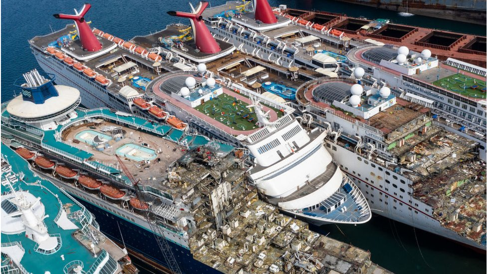 scrapped cruise ships