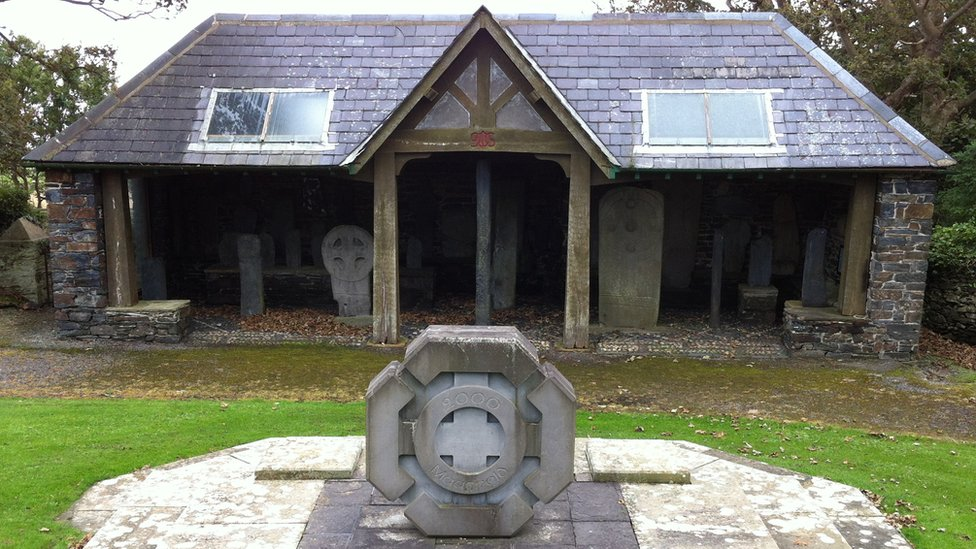 Cross shelter at Kirk Maughold Church