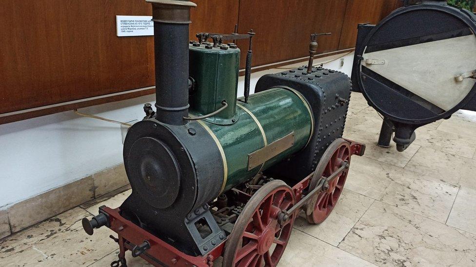 Model parne lokomotive Džordža Stivensona