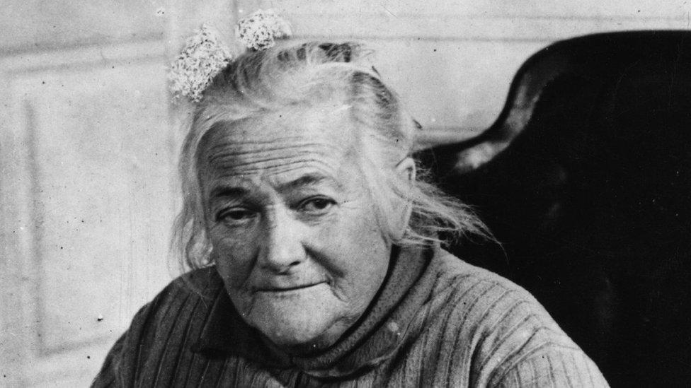 Clara Zetkin looks to the camera