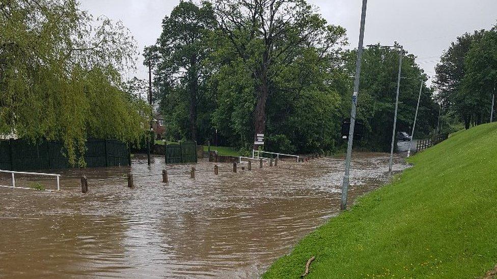 Flint Brook flooded