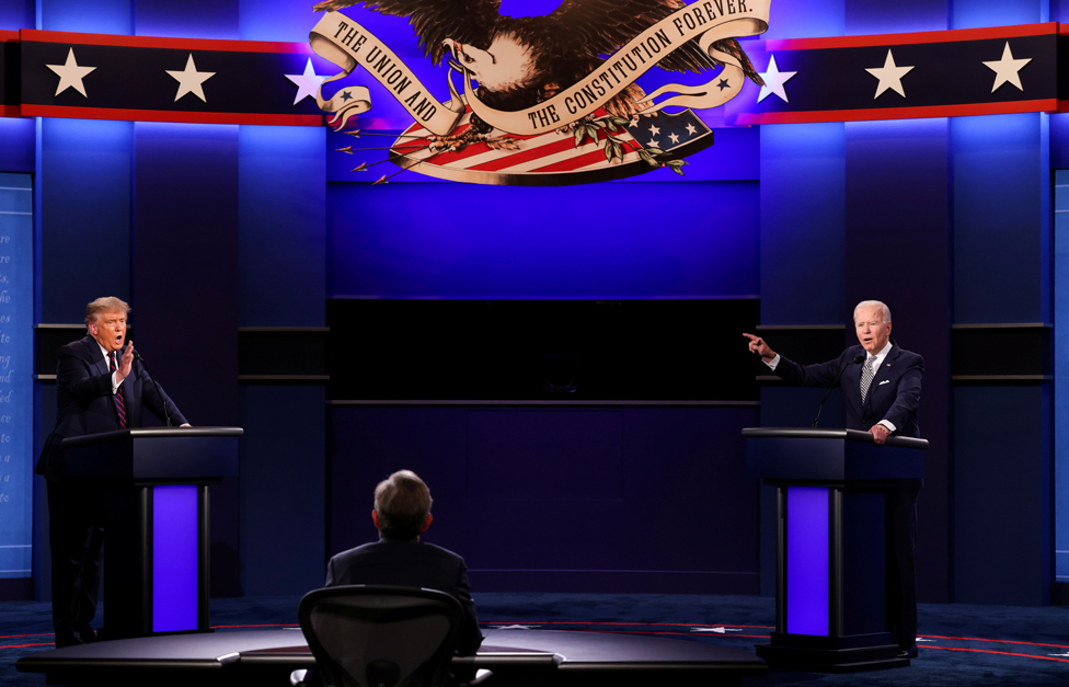 President Donald Trump and Democratic presidential nominee Joe Biden participate in their first 2020 presidential campaign debate