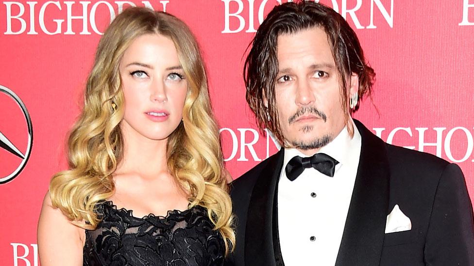 Johnny Depp and Amber Heard in January 2016