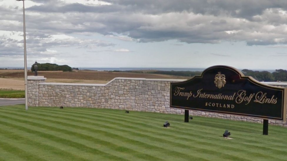 Woman dies after crash at Trump golf course