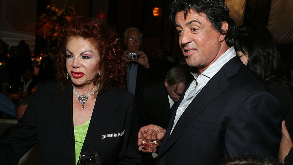 Jackie and Sylvester Stallone