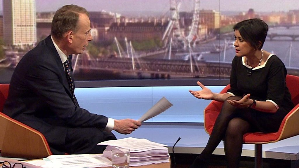 'Don't patronise me', Marr tells guest