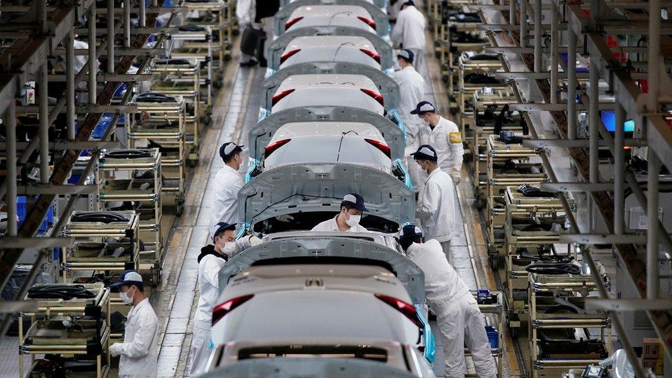 Vuhan'daki fabrikalar da salgın öncesi üretim kapasitelerine dönmeye başladı. Onlardan biri Dongfeng Honda Fabrikası.