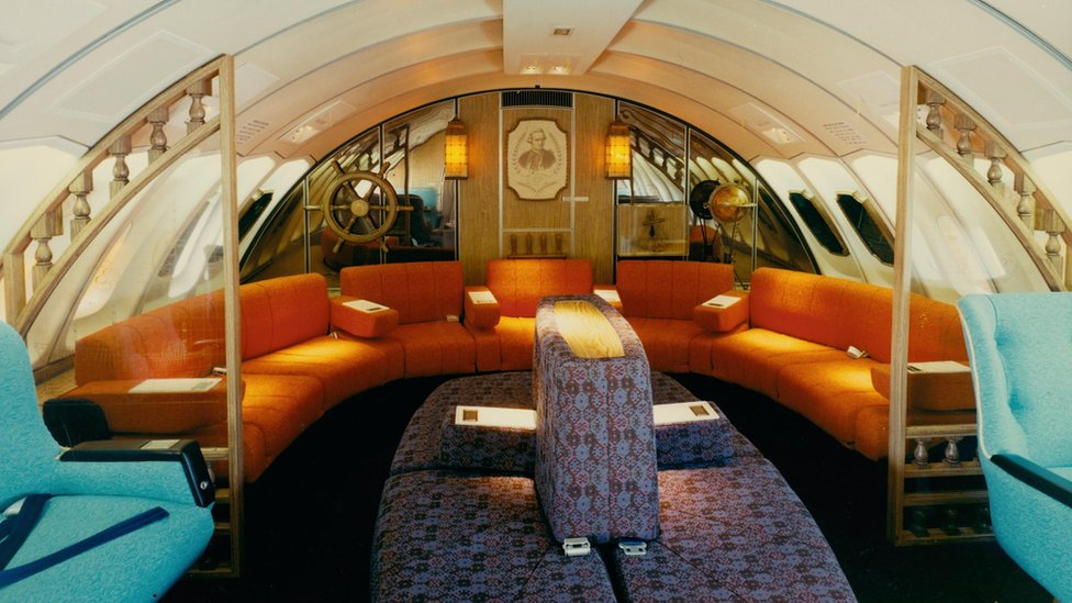 The Captain Cook Lounge from an early Boeing 747