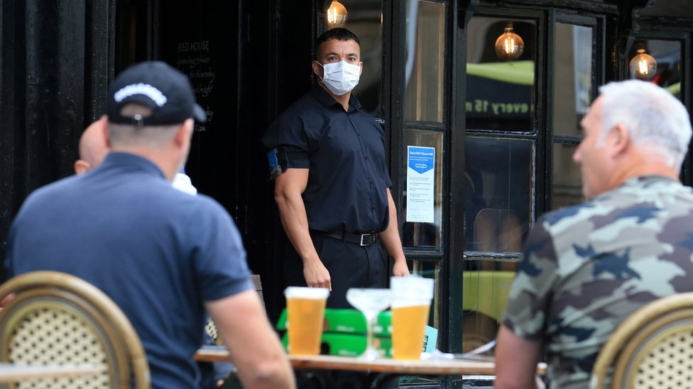 Doorman outside a Newcastle pub