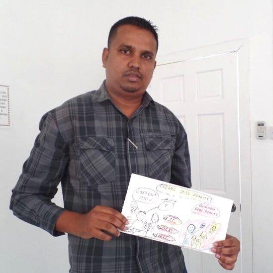 Haimraj Hamandeo at the Sunrise Center