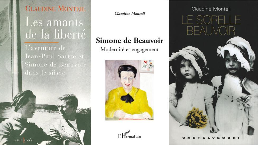 Três capas de livros de Monteil