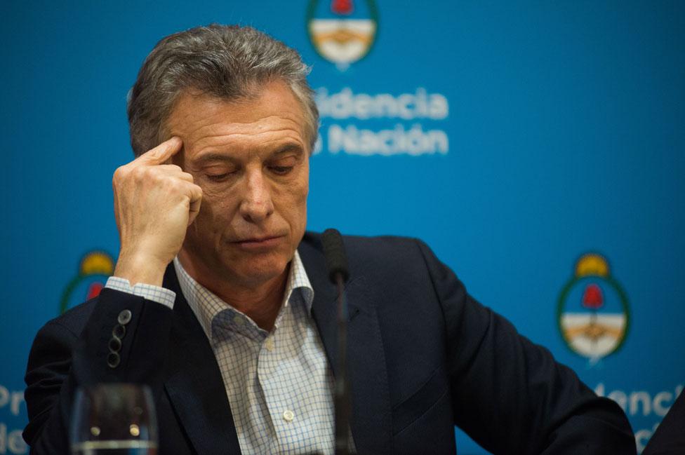 Macri durante su conferencia de prensa