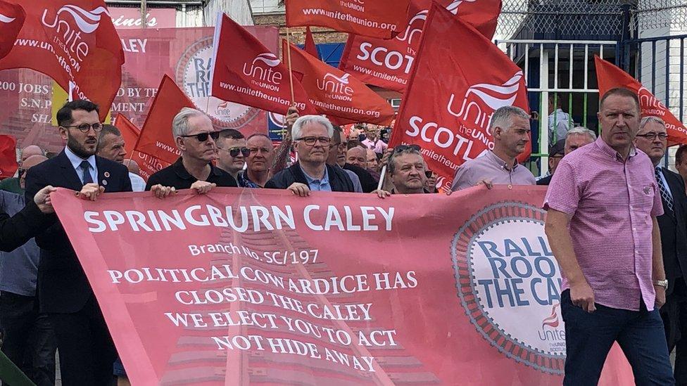 Springburn Caley protest