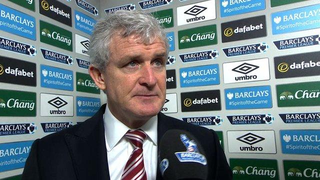 Everton 3-4 Stoke: Mark Hughes hopes for Christmas momentum
