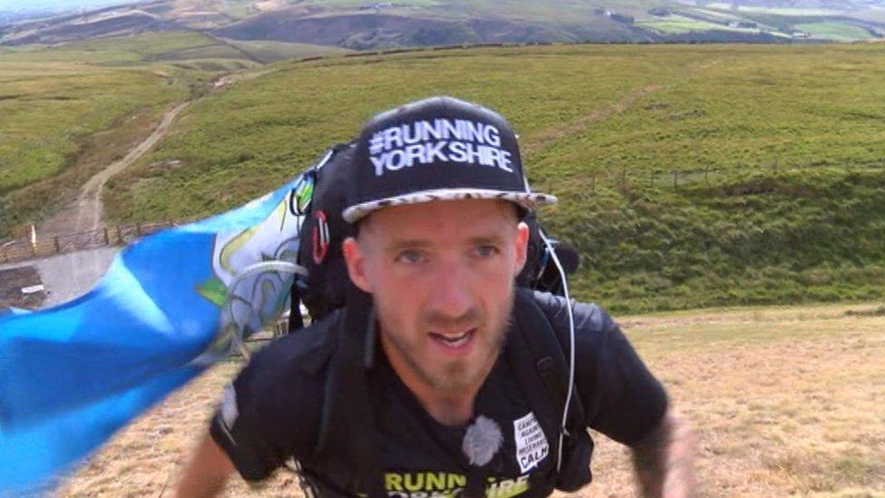 Charity runner Ben Dave circumnavigates Yorkshire
