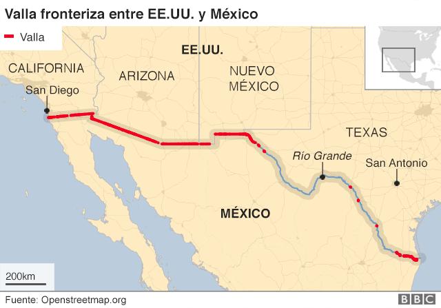 Valla entre EE.UU. y México