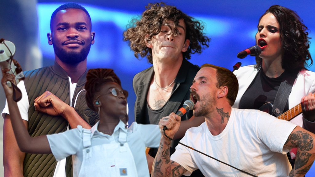 Composite image of the Mercury Prize nominees
