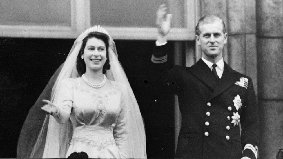 İkinci Elizabeth ve Prens Philip'in evlilk töreninden