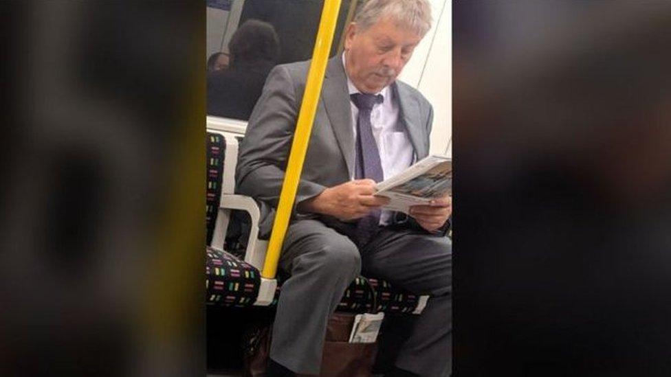 Sammy Wilson travelling on the London tube