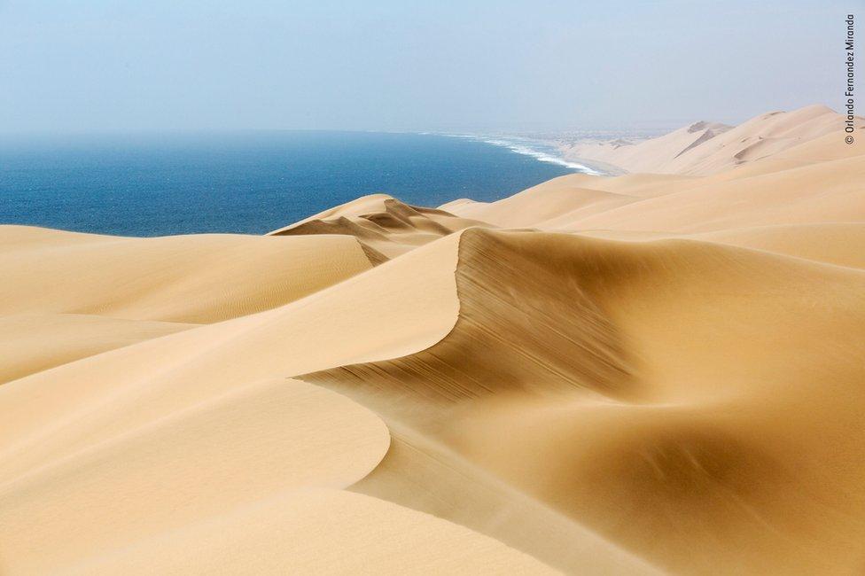 Arena en dunas en Namibia