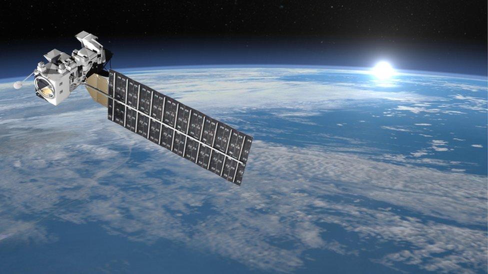 Satellite on Earth.