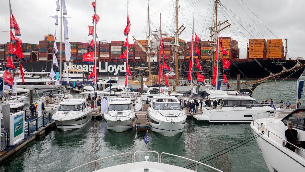 Southampton International Boat Show in 2018