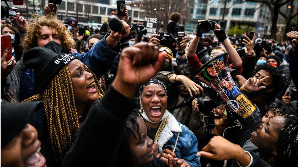 protestas durante el veredicto de Chauvin