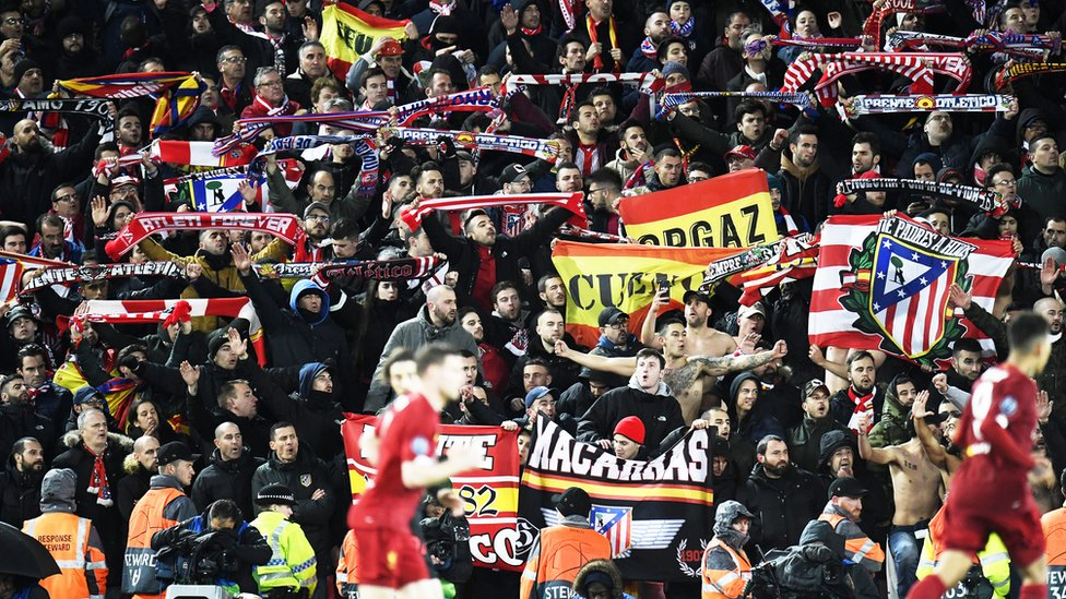 Atletico fans
