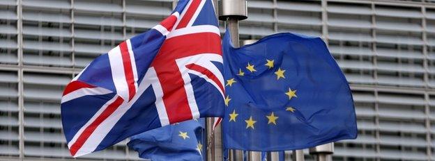 UK and EU flags