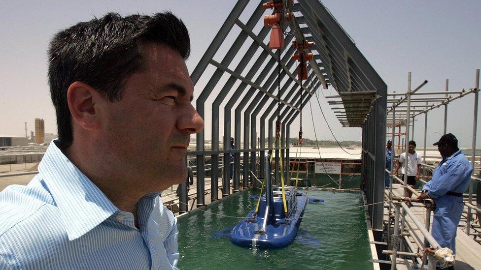 Hervé Jaubert en Dubái, en 2006