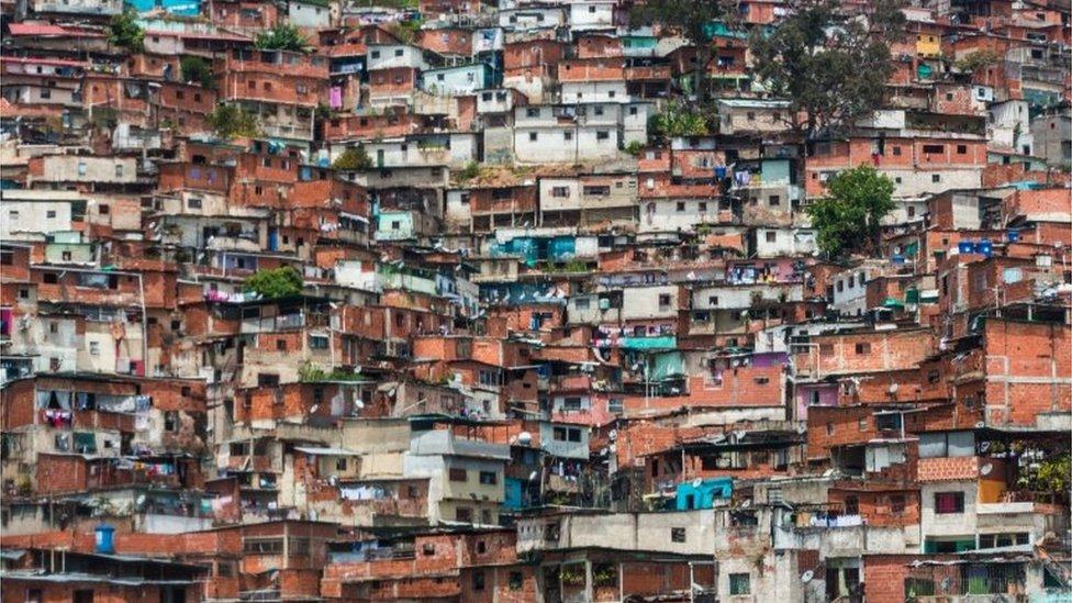 Un barrio popular de Caracas