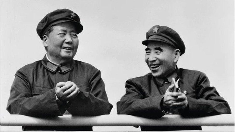 林彪與毛澤東 1971年圖片