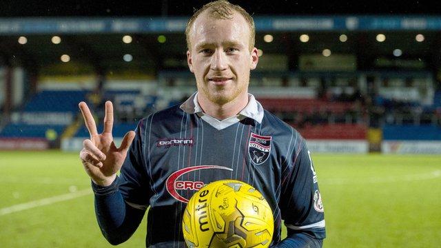 Ross County forward Liam Boyce