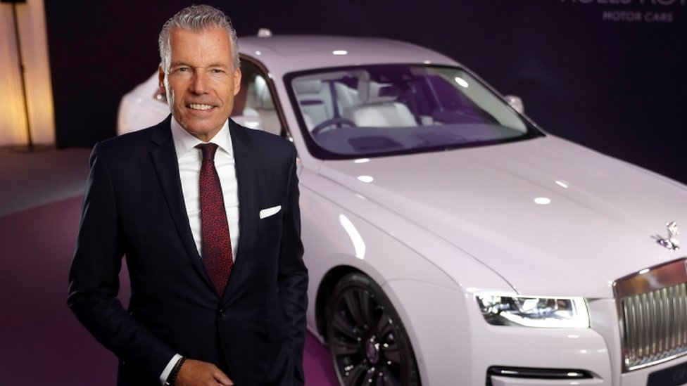 Torsten Müller-Ötvös with the new Rolls-Royce Ghost