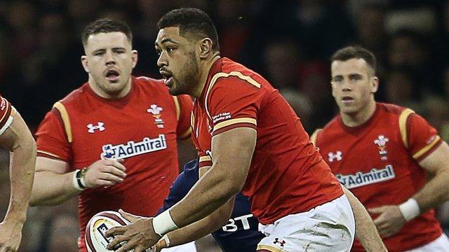 Taulupe Faletau in action for Wales in the victory over Scotland in the 2016 Six Nations