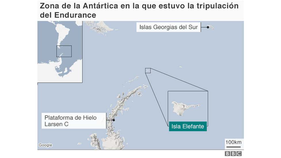 Mapa de la Antártica