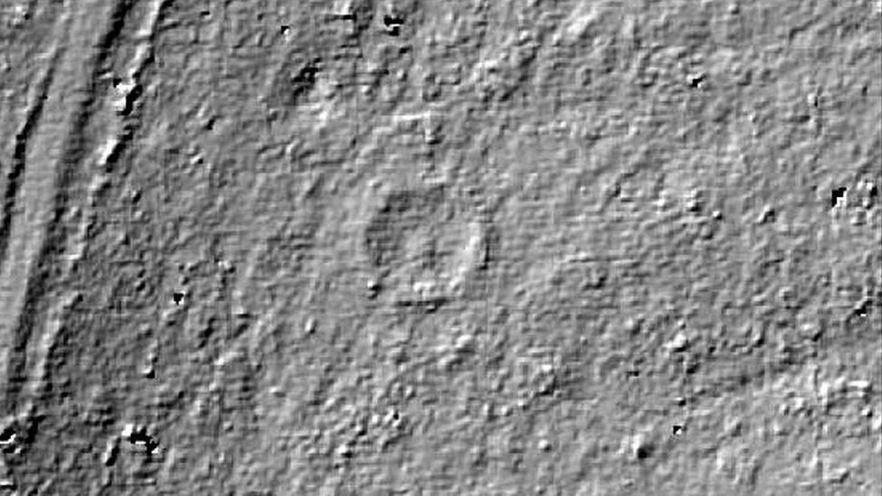 Lidar image of ring cairn