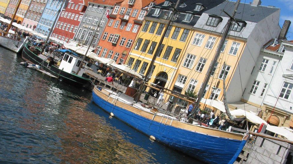 The Nyhavn harbour area of Copenhagen