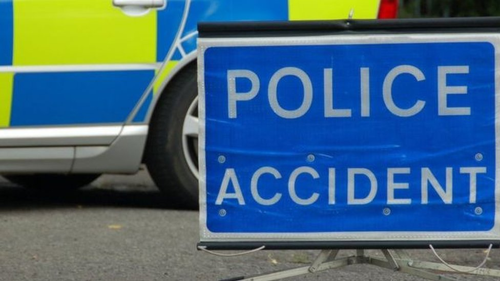 Serious road crash on A4215 in Powys causes fire