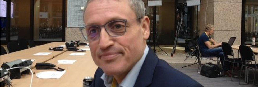 Picture of German journalist Daniel Brössler, Brussels correspondent for Süddeutsche Zeitung