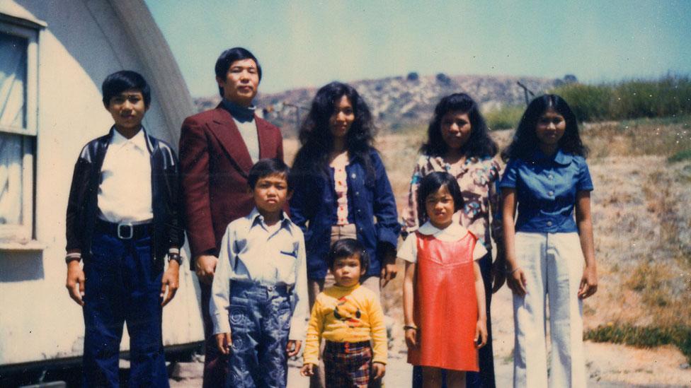 La familia de Ted en Camp Pendleton