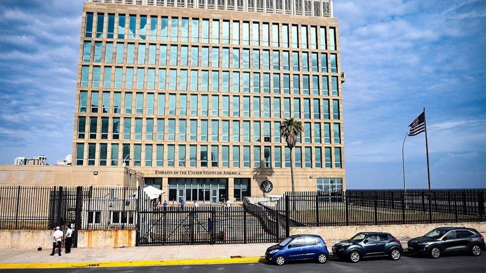 سفارة الولايات المتحدة في هافانا في مايو 2021