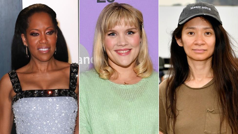 Regina King, Emerald Fennell y Chloe Zhao