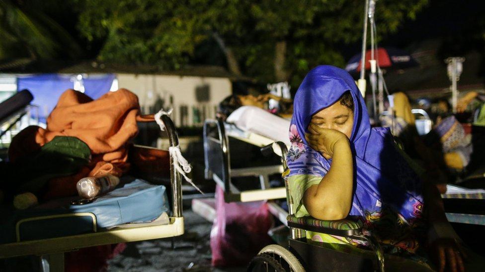 當地醫院外匯集了大批倖存者