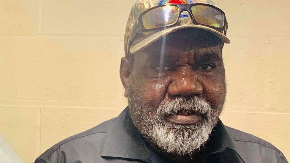 Donald Bob, elder of the Gangalidda Garawa nation