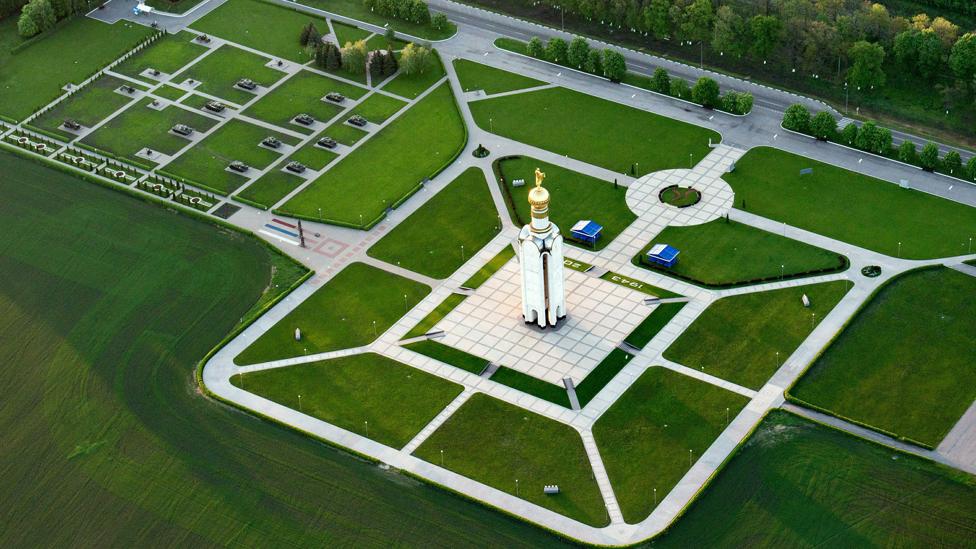 Vista aérea del memorial de Prokhorovka