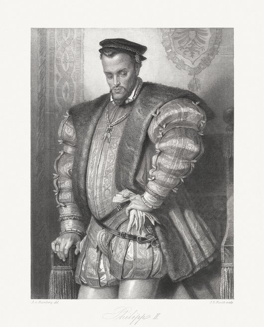 Rey Felipe II de España.