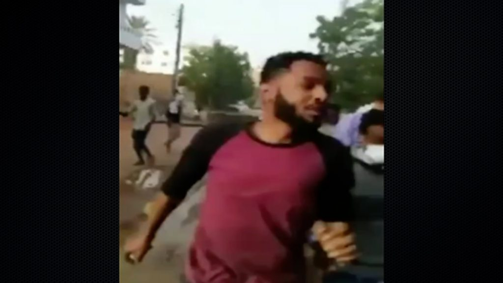 Sudan protests: People flee gunshots in deadly protest