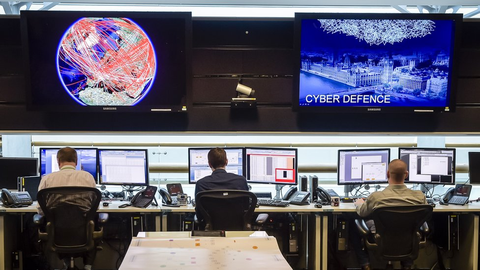 A general view of the 24 hour Operations Room inside GCHQ
