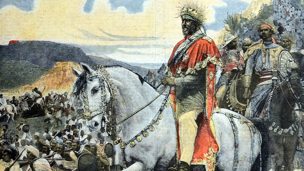 Menelik II of Ethiopia at Battle of Adwa 1896 Ethiopia